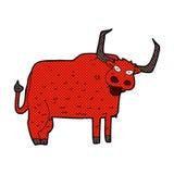 Comic cartoon hairy cow Royalty Free Stock Photos