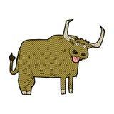 Comic cartoon hairy cow Royalty Free Stock Image