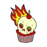 comic cartoon halloween cup cake Royalty Free Stock Photos