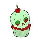 comic cartoon halloween cup cake Stock Photos