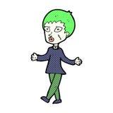 Comic cartoon halloween zombie woman Royalty Free Stock Photos