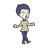 Comic cartoon halloween zombie woman Royalty Free Stock Image