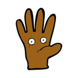Comic cartoon hand with eyes Royalty Free Stock Photos