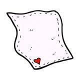 Comic cartoon handkerchief Royalty Free Stock Photo