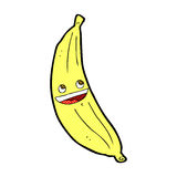 comic cartoon happy banana Stock Images