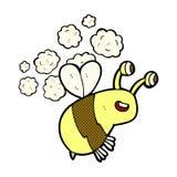 Comic cartoon happy bee Royalty Free Stock Image