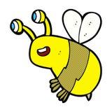 Comic cartoon happy bee Royalty Free Stock Photography