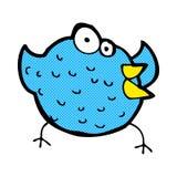 Comic cartoon happy bird Royalty Free Stock Image