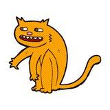 Comic cartoon happy cat Stock Images