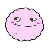 Comic cartoon happy cloud Stock Photos