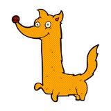 Comic cartoon happy dog Stock Image