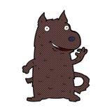 Comic cartoon happy dog Stock Photos
