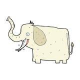 Comic cartoon happy elephant Royalty Free Stock Photos