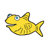 Comic cartoon happy fish Royalty Free Stock Photography