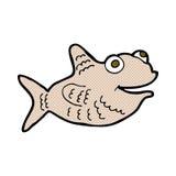 Comic cartoon happy fish Stock Image