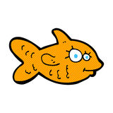 Comic cartoon happy goldfish. Retro comic book style cartoon happy goldfish Stock Photos