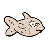 Comic cartoon happy goldfish. Retro comic book style cartoon happy goldfish Stock Photography