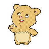 Comic cartoon happy little teddy bear. Retro comic book style cartoon happy little teddy bear Royalty Free Stock Photo