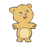 Comic cartoon happy little teddy bear Royalty Free Stock Photo