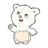 comic cartoon happy little teddy polar bear Stock Photography