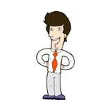 comic cartoon happy man Royalty Free Stock Photography