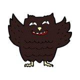 Comic cartoon happy owl Royalty Free Stock Images
