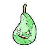 Comic cartoon happy pear Royalty Free Stock Photo