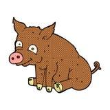 Comic cartoon happy pig Stock Image