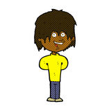 Comic cartoon happy scruffy boy. Retro comic book style cartoon happy scruffy boy Royalty Free Stock Photography