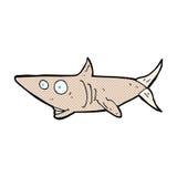 Comic cartoon happy shark Stock Image