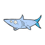 comic cartoon happy shark Stock Photography