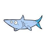 Comic cartoon happy shark Stock Photography