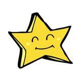 comic cartoon happy star character Stock Photo