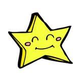 Comic cartoon happy star character. Retro comic book style cartoon happy star character Stock Photography