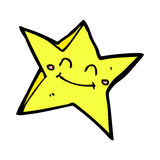 comic cartoon happy star character Stock Images
