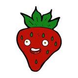 Comic cartoon happy strawberry Royalty Free Stock Image