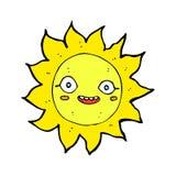 Comic cartoon happy sun Royalty Free Stock Image