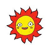 Comic cartoon happy sun Royalty Free Stock Photo