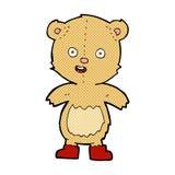 Comic cartoon happy teddy bear in boots. Retro comic book style cartoon happy teddy bear in boots royalty free illustration