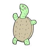 Comic cartoon happy turtle Stock Images