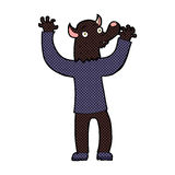 comic cartoon happy werewolf man Stock Photo