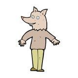 comic cartoon happy werewolf Royalty Free Stock Photo