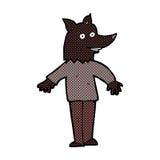 comic cartoon happy werewolf Stock Image