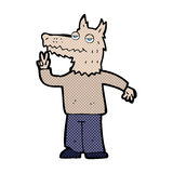 Comic cartoon happy wolf man Royalty Free Stock Photos
