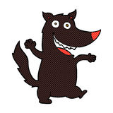 comic cartoon happy wolf Stock Photos