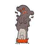 comic cartoon haunted grave Royalty Free Stock Photos
