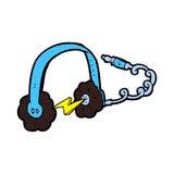 Comic cartoon headphones Royalty Free Stock Photos