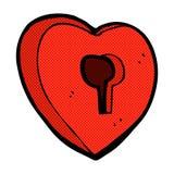 comic cartoon heart with keyhole Stock Photo