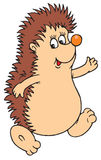 Comic Cartoon Hedgehog Stock Images