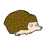 comic cartoon hedgehog Royalty Free Stock Photo